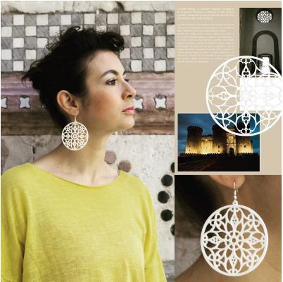 Collezione Cattedrali Europee orecchini in Stampa 3d