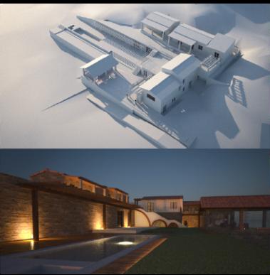Progetto preliminare per villaggio turistico Sardegna