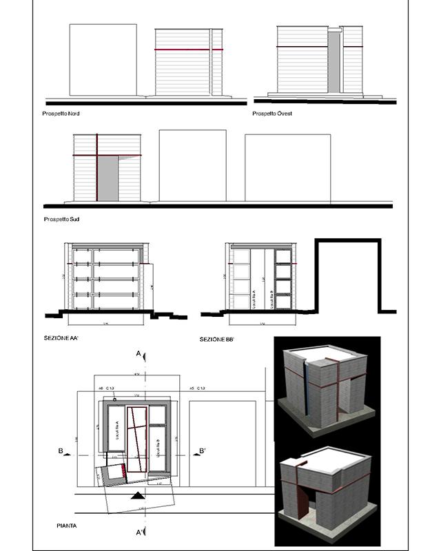 Progetto di cappella funebre di famiglia a BOSA (Or)